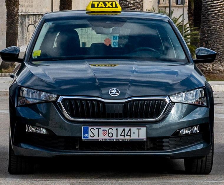 Škoda Scala taxi trogir